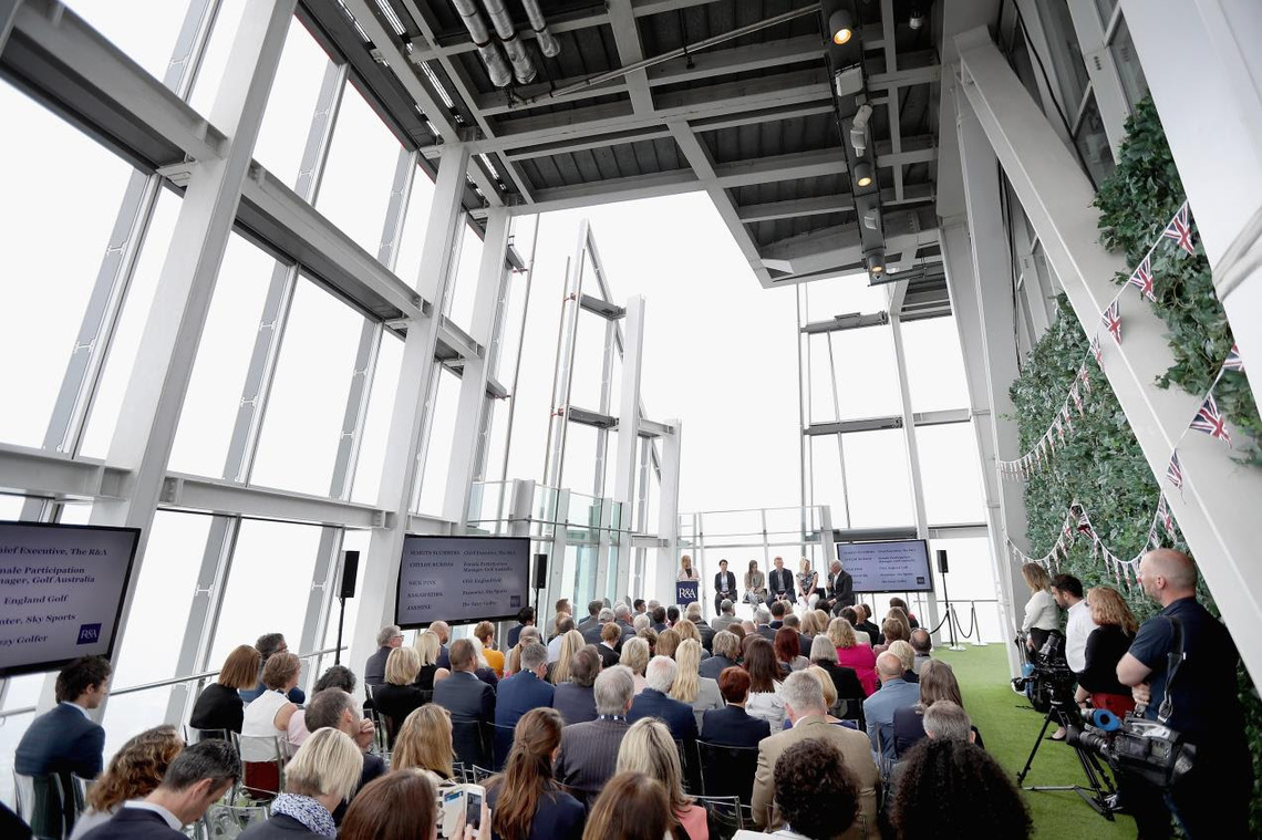 The R&A launched a new Women in Golf Charter today at an event staged at The View from the Shard, London.