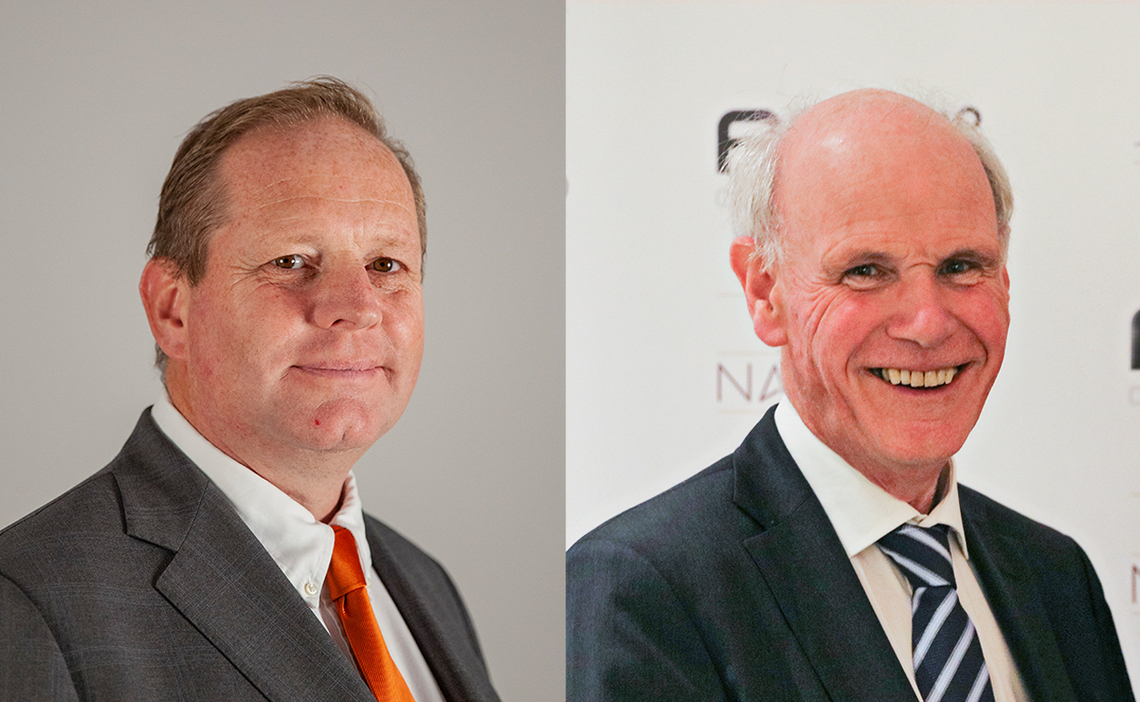 Frank Kirsten [left] will succeed Sandy Jones [right] as PGAs of Europe Chairman