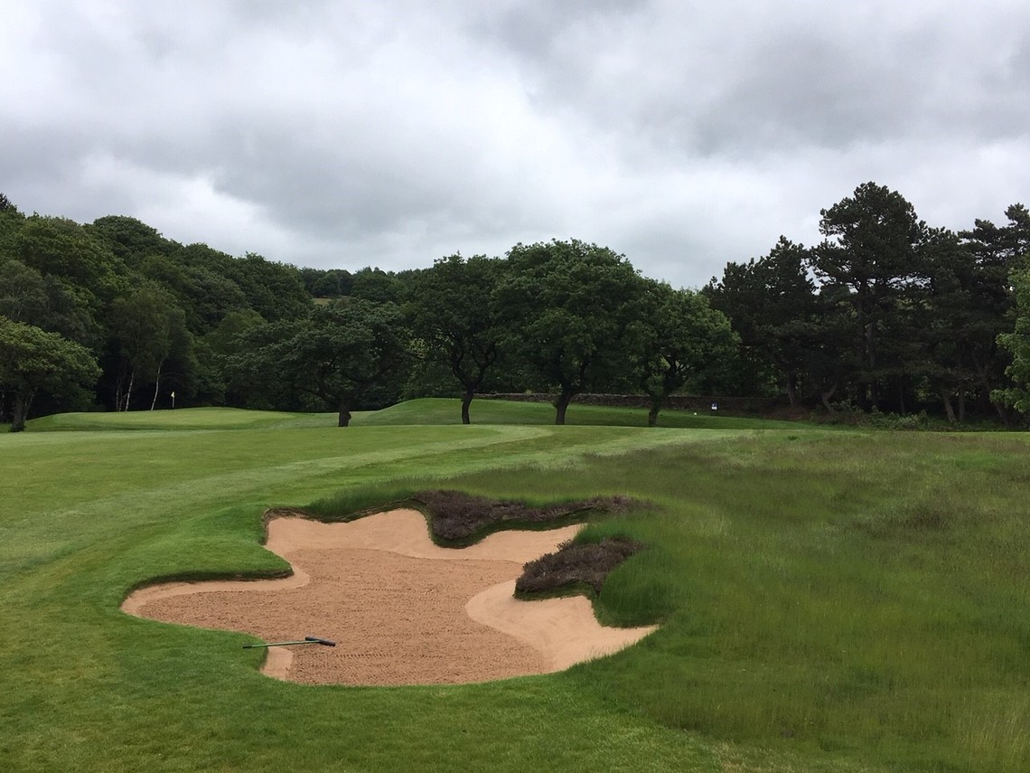 Hole 13 fairway bunker - ©Sam Wardill, Course Manager at Meltham GC