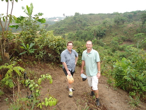 Senior Member Tim Lobb with Graduate Andrew Goosen on site in Nigeria